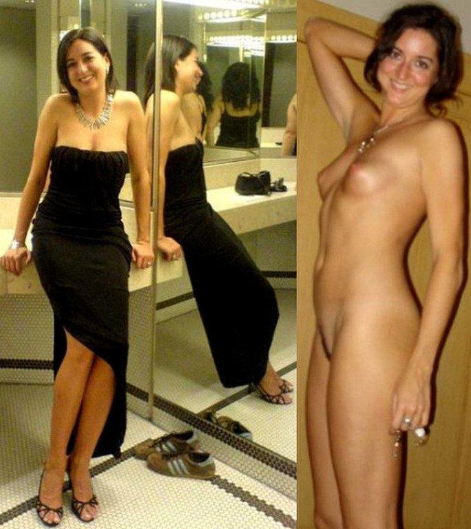 Dressed undressed nude